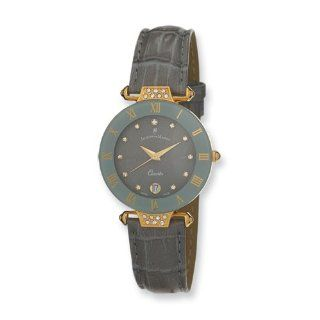 Ladies Jacques Du Manoir Grey Strap Crystal Accent Watch, Best Quality Free Gift Box Satisfaction Guaranteed Watches