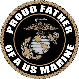 "PROUD FATHER OF US MARINE CORPS ARMY DECAL STICKER 5"" (BLACK)  Other Products"