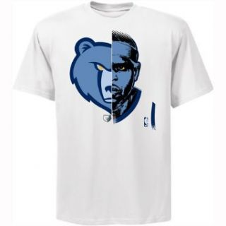 Majestic Zach Randolph Memphis Grizzlies GameFace T Shirt   White  Sports Fan T Shirts  Sports & Outdoors