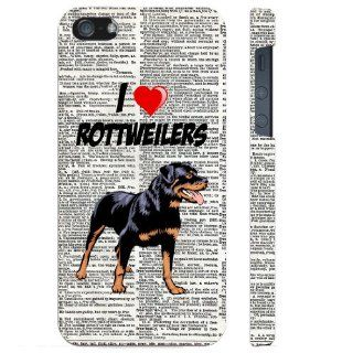 SudysAccessories I Love Heart Rottweilers On Dictionary iPhone 5 Case iPhone 5G Case   SoftShell Full Plastic Direct Printed Graphic Case Cell Phones & Accessories