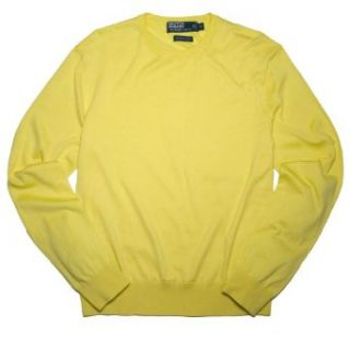 Polo Ralph Lauren Men Fine Cotton Sweater Pullover (XL, Yellow) at  Men�s Clothing store Yellow Ralph Lauren Polo Sweatshirt