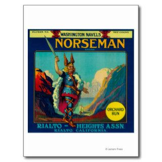 Norseman Orange LabelRialto, CA Post Cards