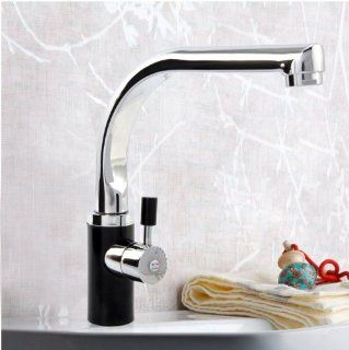 High Quality Solid Brass Single Handle Bathroom Lavatory Vanity Vessel Sink Faucet, Chrome Finish, Black   Touch On Bathroom Sink Faucets