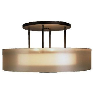 Fine Art Lamps 435940ST 3 Light Quadralli Semi Flush Ceiling Light, Rich Bourbon   Ceiling Pendant Fixtures
