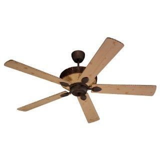Monte Carlo 5GL66OC Great Lodge Magnum, 66 Inch 5 Blade Ceiling Fan, Old Chicago Motor Finish and Ponderosa Pine Blades