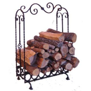 Valentine Large Wrought Iron Indoor Log Holder, Log Rack
