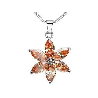 Wholesale 3 pcs/lot November Birthstone Crystal Daisy Flower Necklace   Charms