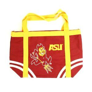 NCAA Arizona State Sun Devils Logo Symbol High Quality Canvas Tote Bag Licensed