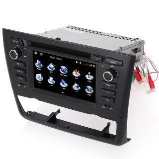 Koolertron For BMW 1 Series E81 E82 E87 E88 DVD Navigation System with 6.2 Inch HD touchcreen /for Automatic Air conditioner Double DIN Navigation DVD Receiver  Vehicle Dvd Players