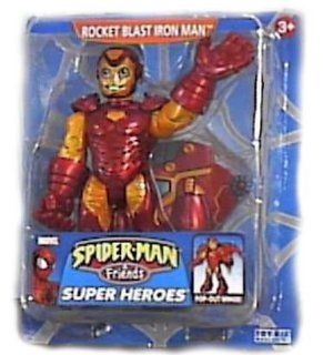 Spider man & Friends Rocket Blast Iron Man Super Heroes Figure Toys & Games