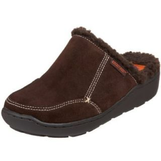 ROCKET DOG Cuddles Womens Faux Shearling Lining Fur Slipper Suede Clog Slip On Shoe Brown Shoes