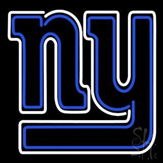 "New York Giants NFL Outdoor Neon Sign 24"" Tall x 24"" Wide x 3.5"" Deep  Business And Store Signs"