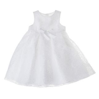 Tevolio Infant Toddler Girls Sleeveless Lace Overlay Dress   White 2T