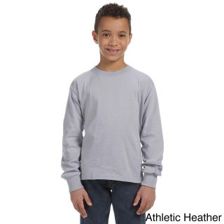 Fruit Of The Loom Fruit Of The Loom Youth Heavy Cotton Hd Long Sleeve T shirt Grey Size L (14 16)