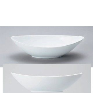 soup cereal bowl kbu676 01 512 [9.45 x 4.97 x 2.64 inch] Japanese tabletop kitchen dish Delica wear white porcelain boat type bowl ( small ) [24 x 12.6 x 6.7cm] Tableware Restaurant Hotel restaurant business kbu676 01 512 Soup Cereal Bowls Kitchen &