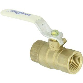 Milwaukee Valve UPBA475B Series Brass Ball Valve, Potable Water Service, Two Piece, Inline, Lever, NPT Female Industrial Ball Valves