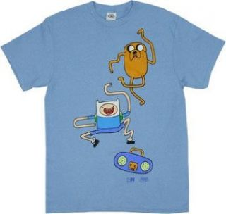 Adventure Time Dance Dance Men Light Blue T shirt Clothing