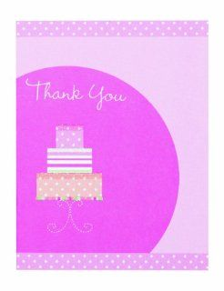 Wilton 12 Pack Bridal Shower Cake Thank you Card   Wedding Party Invitations