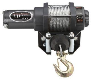 Viper Max 3000lb UTV Winch & Custom Mount for Yamaha Rhino 450/660/700 with Steel Cable Automotive