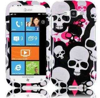 Pink White Skull Hard Cover Case for Samsung Focus 2 SGH I667 Cell Phones & Accessories