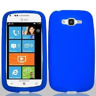 Blue Soft Silicone Gel Skin Cover Case for Samsung Focus 2 SGH I667 Cell Phones & Accessories