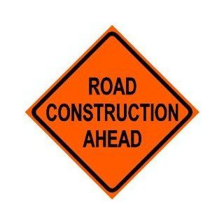 ROAD CONSTRUCTION AHEAD caution highway sign   Yard Signs