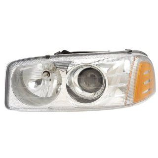 2001 2006 GMC Yukon & XL 1500, 2001 C3 1500 HD, 2002 2007 Sierra Denali Sport Utility 4 Door SUV Truck Headlight Headlamp Composite Halogen Front Head Light Lamp Left Driver Side (01 2001 02 2002 03 2003 04 2004 05 2005 06 2006 07 2007) Automotive