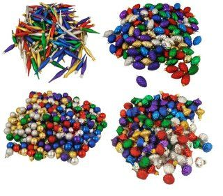 672 Piece Club Pack of Multi Color Miniature Shatterproof Christmas Ornaments   Christmas Ball Ornaments