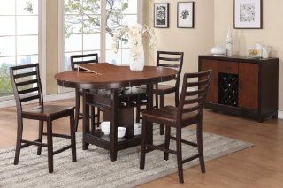 Treviso Oval 5 Pc Counter Height Table   Dining Room Furniture Sets