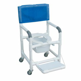 MJM International Standard Deluxe Shower Chair with Folding Footrest