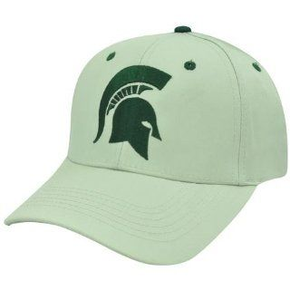 NCAA Michigan State Spartans Twill Plain Velcro Beige Logo Adjustable Hat Cap  Sports Fan Baseball Caps  Sports & Outdoors