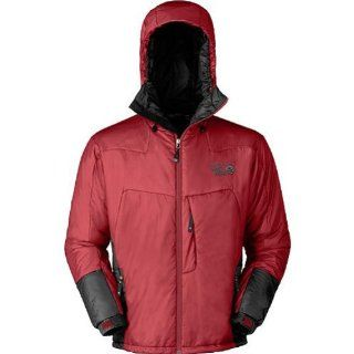 Mountain Hardwear Hooded Compressor PL Jacket   Men's Jackets LG Lava Sports & Outdoors
