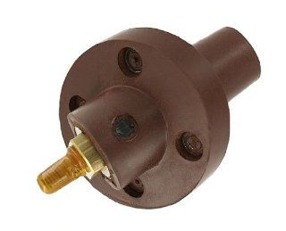 Leviton 23R24 H 23 Series, Single Pole 30 Degree Cam Type, Taper Nose Female Panel Receptacle, Threaded Stud, 250 750MCM, 690 Amp Max, Brown   Electric Plugs