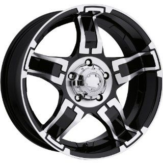 Ultra Drifter 17 Black Wheel / Rim 5x5.5 with a 20mm Offset and a 107 Hub Bore. Partnumber 194 7885B Automotive