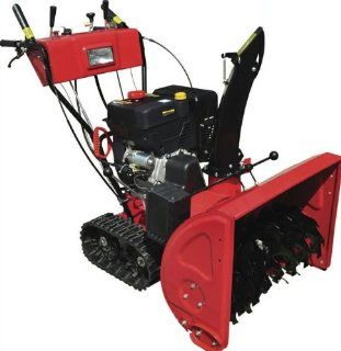 Gas Powered, 13hp 375cc, Electric Start Snow Blower Thrower Machine with Track Tires, Headlight  Patio, Lawn & Garden