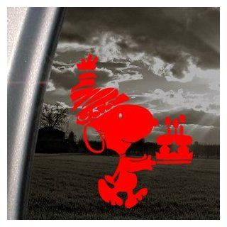 Snoopy Red Decal Peanuts Car Truck Bumper Window Red Sticker   Themed Classroom Displays And Decoration