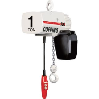 Coffing Industrial Duty Electric Chain Hoist   1/4 Ton Capacity, 15ft. Lift,