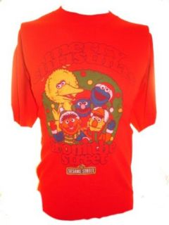 Sesame Street Mens T Shirt   Merry Christmas From the Street (Elmo, Big Bird) Clothing