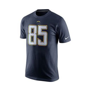 NIKE Mens San Diego Chargers Antonio Gates Player Pride Name And Number T