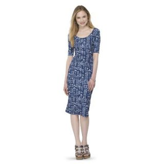 Mossimo Supply Co. Juniors Printed Midi Dress   Blue Tribal XXL(19)
