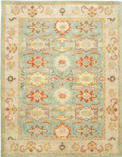 Safavieh Heritage Collection HG734A Handmade Light Blue and Ivory Hand Spun Wool Area Rug, 4 Feet by 6 Feet   Kitchen Rugs