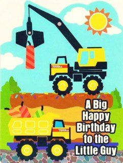 Construction Tonka Trucks Happy Birthday Greeting Card