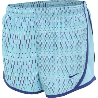 NIKE Girls Tempo Graphic Running Shorts   Size Medium, Polarized Blue