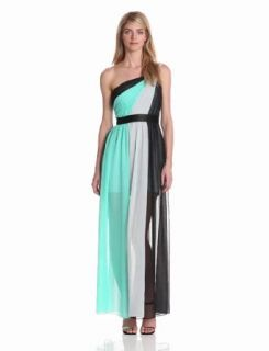 maxandcleo Women's One Shoulder Chiffon Gown