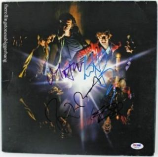 Rolling Stones Band Signed Album Cover W/ Vinyl Jagger Richards Psa/dna #q02231   Autographed CD's Entertainment Collectibles