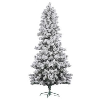 Vickerman 7 White Pine Artificial Christmas Tree with Flocked with