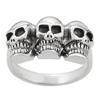 [AZ] Sterling Silver Women's Skull Ring Jewelry