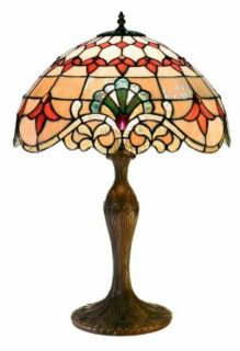 Warehouse of Tiffany 2478+BB06 Tiffany style Barouque Table Lamp, Rustic Red