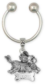 Cavalier King Charles Spaniel Personalized Key Ring Jewelry Julian Esquivel and Ted Fees Jewelry