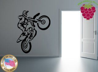 Wall Stickers Vinyl Decal Motorcycle Bike Racing Extreme Sports Freestyle Motocross (ig665)   Wall Decor Stickers